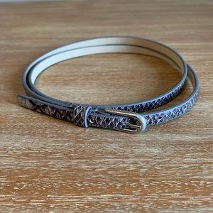 Ann Taylor Silver Snakeskin Belt